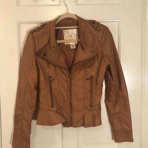 Vegan leather jacket- Arden B